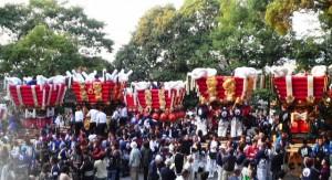 枚岡神社秋郷祭1